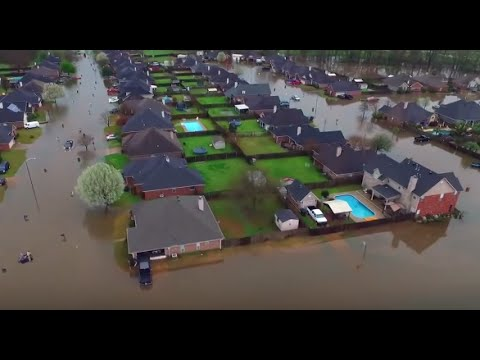 Louisiana Flooding | Dramatic Drone Footage Shows Damage