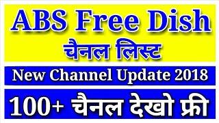 ABS Free dish New Channel List 2018