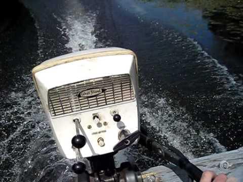 West Bend Shark 7 5 Hp Outboard Motor Sears Elgin Youtube