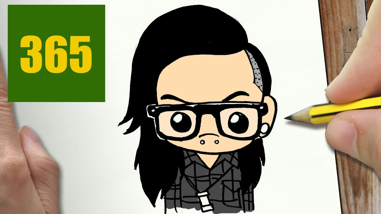 Comment Dessiner Skrillex Kawaii Etape Par Etape Dessins Kawaii