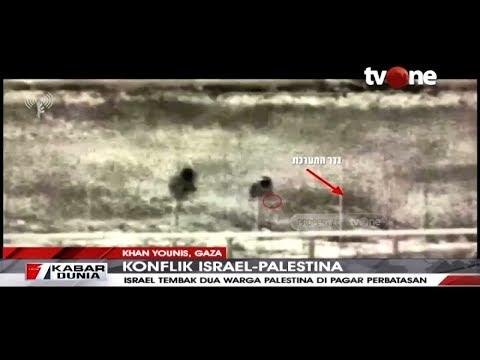 Detik-detik Tentara Israel Tembak Dua Orang Warga Palestina Di Perbatasan | TvOne