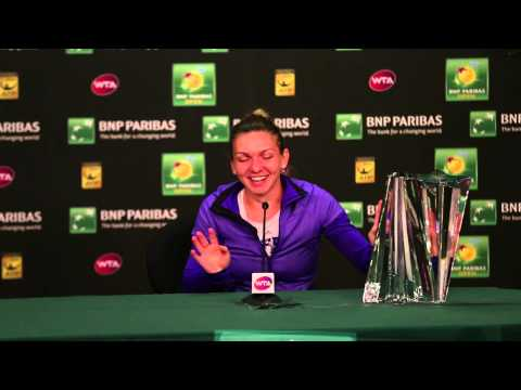Halep Can't Lift BNP Paribas Open Trophy