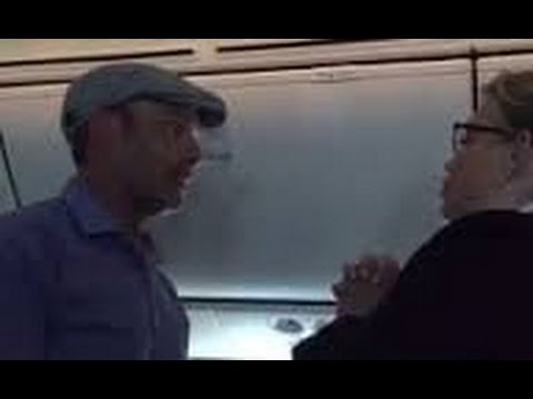 Passenger Kicked Off Plane After Racist Rant on United Airlines Flight (FULL VIDEO)