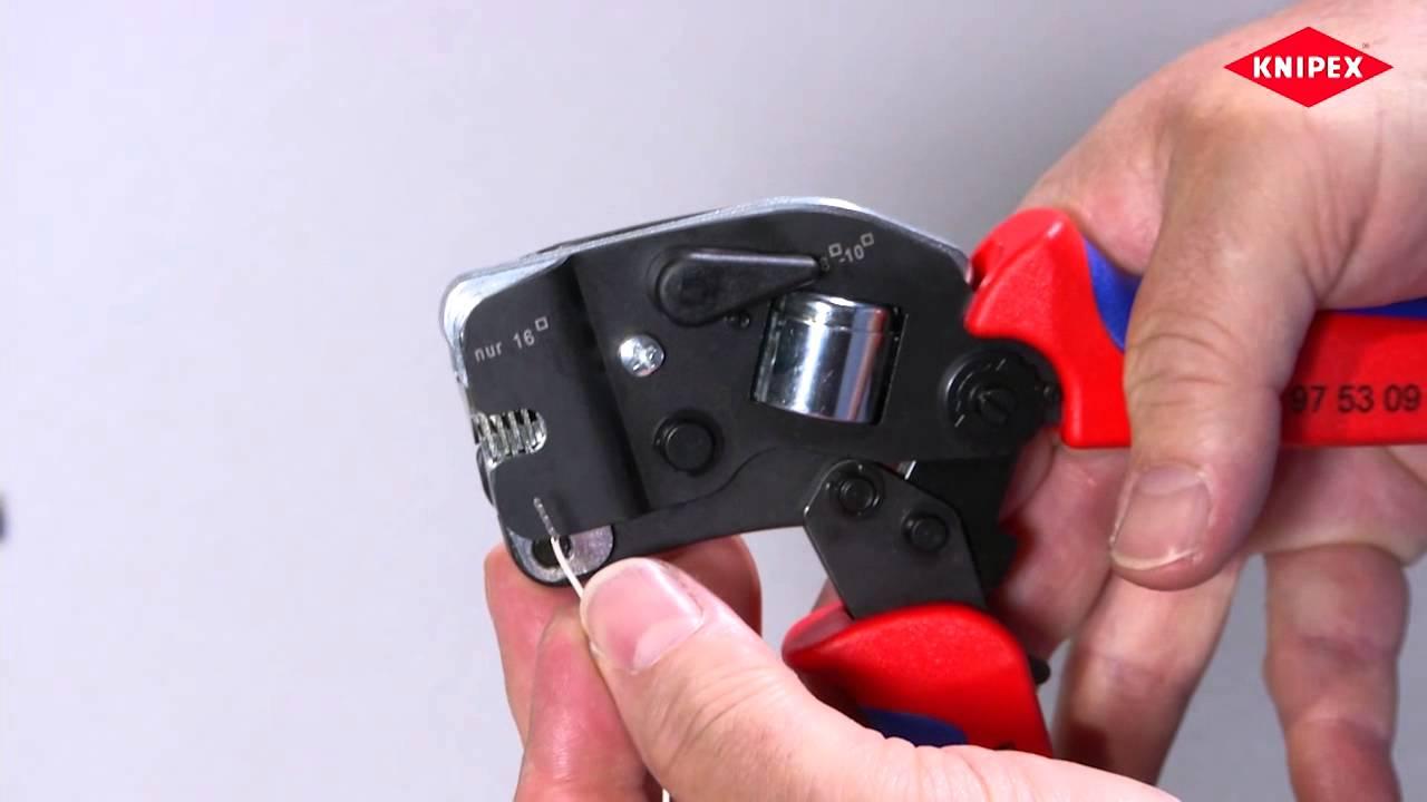 KNIPEX 97 99 398 Aderendh/ülsen f/ür 16 mm/² unisoliert je 100 St/ück