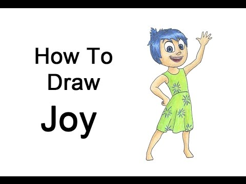 How To Draw Joy From Inside Out Youtube