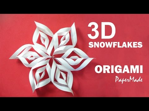 How To Make Beautiful 3d Snowflakes Origami