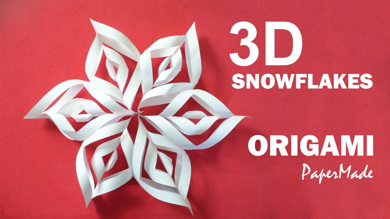 how to make beautiful 3d snowflakes origami very easy