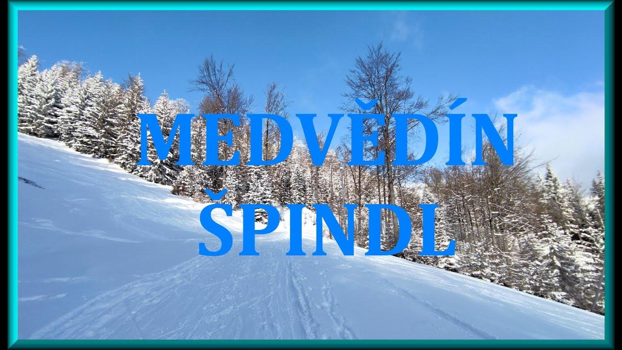2021-02-13 Sobota. Honza na lyžích. Medvědín - Špindlerův Mlýn.