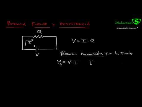 Potencia Electrica Generador Y Resistencia. Tutorial De Electricidad 10/12 Mistercinco