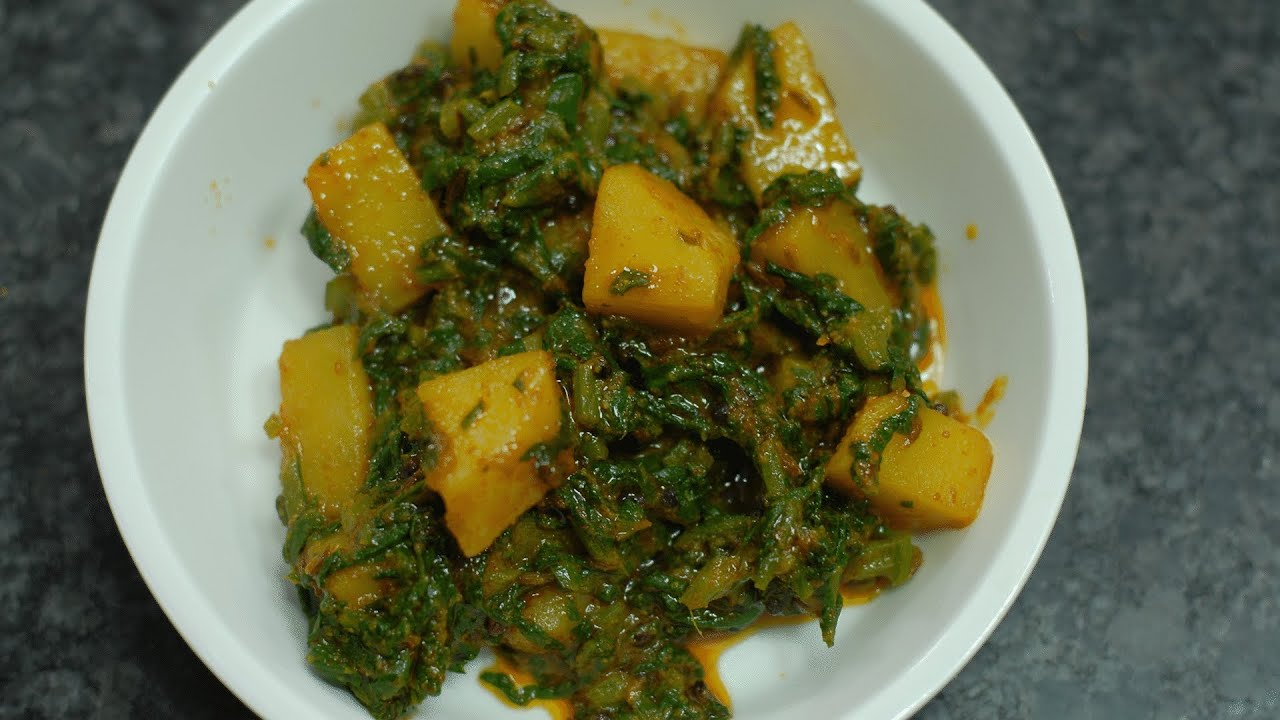 Oily Spinach Potatoes  Aloo Palak  By Vahchef @ Vahrehvah  Youtube