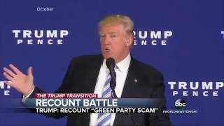 Trump Lashes Out at Election Recount