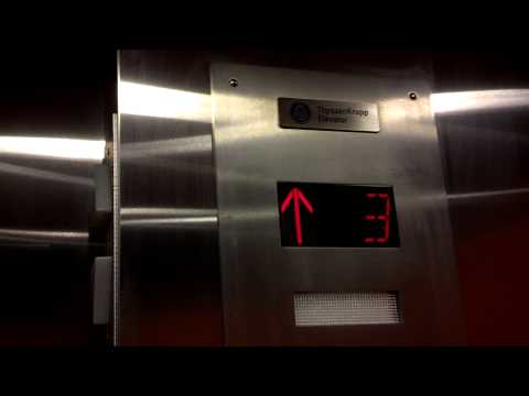 Hydraulic ThyssenKrupp elevator at Orange County Community College student center