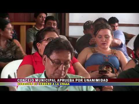 CONCEJO MUNICIPAL APRUEBA POR UNANIMIDAD DONACIÓN DE TERRENO A LA UNAAA