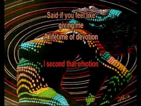 I Second That Emotion lyric sync