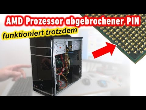 AMD Prozessor abgebrochener PIN  funktioniert trotzdem  verbogen  reparieren  4K