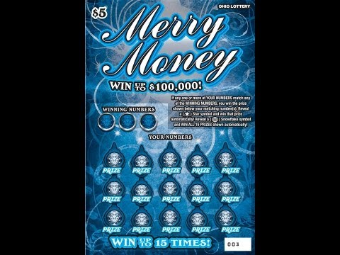 SCRATCHES OFF OHIO CHRISTMAS HOLIDAY INSTAND LOTTERY TICKET, MERRY MONEY, HOLIDAY $100'S