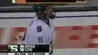 Bryan Lerg Goal versus Michigan