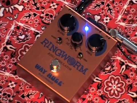 Way Huge RINGWORM Ring Modulator guitar effects pedal demo