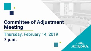 Youtube video::February 14, Committee of Adjustment Meeting