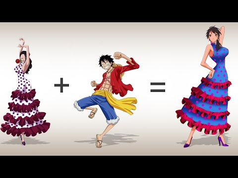 one-piece-characters-fusion:-luffy-+-viola-|-anime-character-fusion-drawing