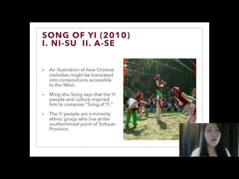 The Musical Life of Mingzhu Song