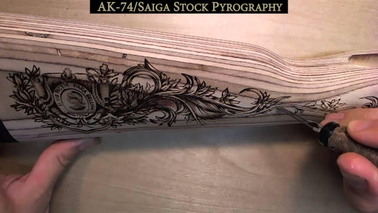 Ak 74 Gun Stock Pyrography Youtube