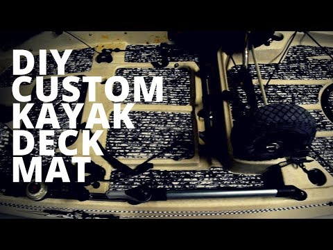 Custom Kayak DIY Deck Mat, SEA DECK, MARINE MAT. Fishing Kayak MODS