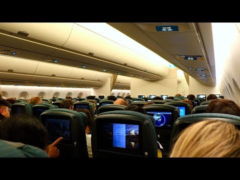 Cathay Pacific Airbus A350-900 Economy Class   Hong Kong - Manchester CX219