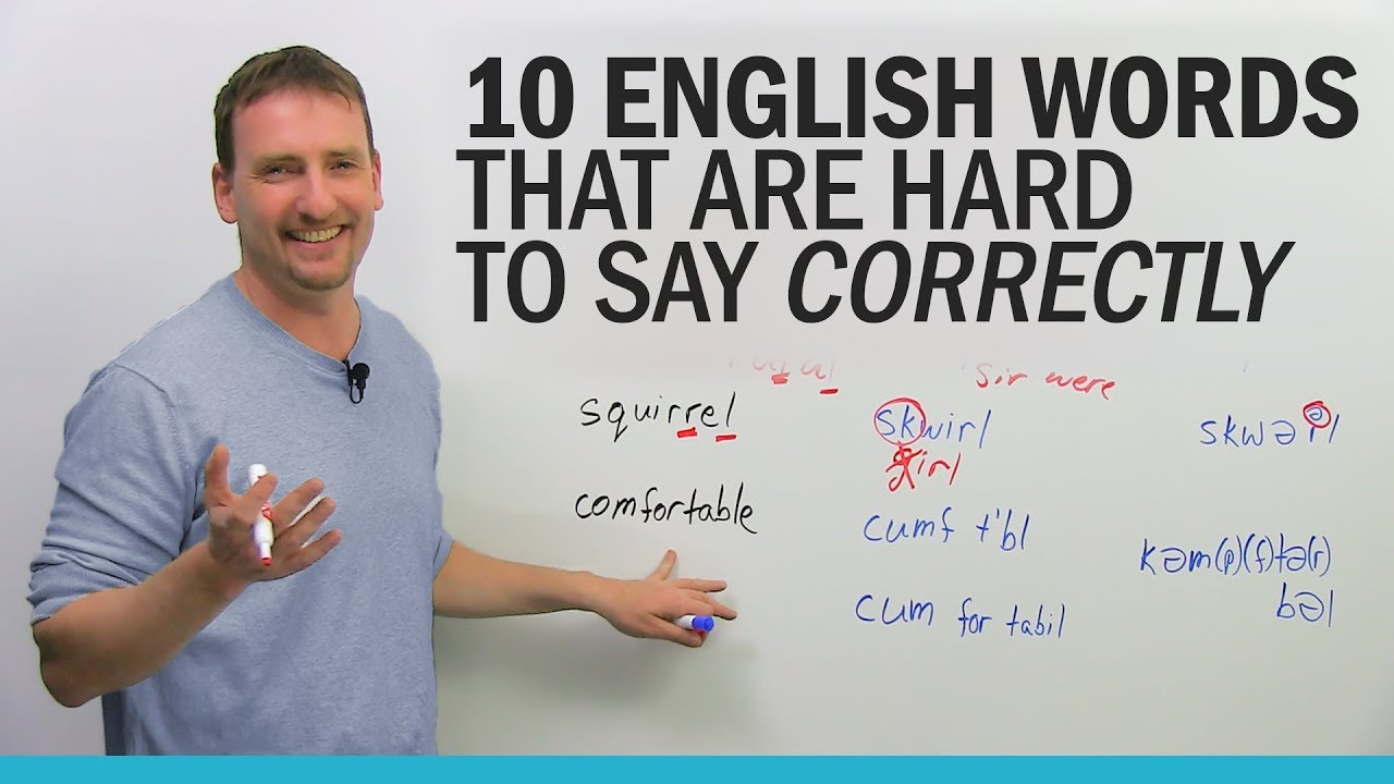 10 English words that are hard to say correctly