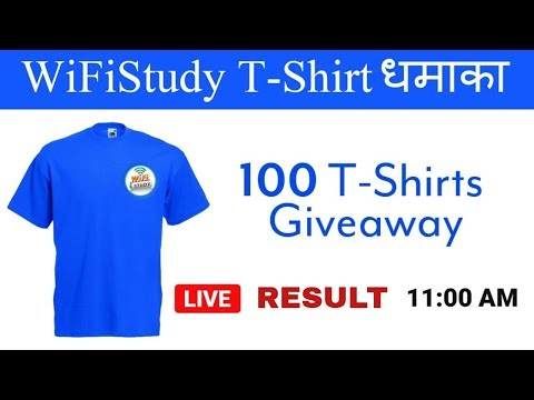 WiFiStudy T-Shirt धमाका RESULT 🔥🔥🔥| 100 T-Shirts Giveaway