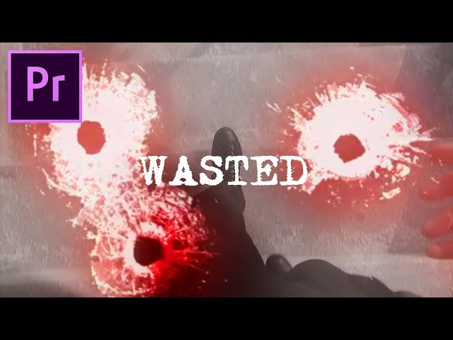 Adobe Premiere Pro: Bullet Hole / Cracked Screen Wasted Animation Effect Tutorial