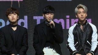 [ENG] B1A4 'A lie'(거짓말이야) TALK Showcase (비원에이포, 진영, …