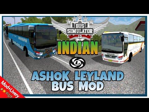 BUSSID V2 9 ASHOK LEYLAND Indian Bus Mod  INDIAN BUS MOD FOR BUS SIMULATOR  INDONESIA Kasaragod Bus  