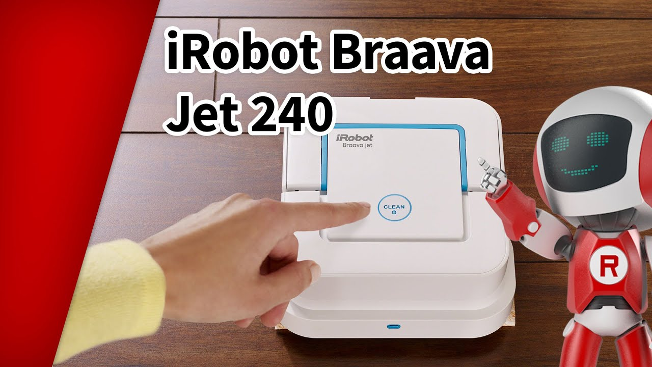 Irobot Braava Jet 240 Der Wischroboter Mit App Steuerung Youtube