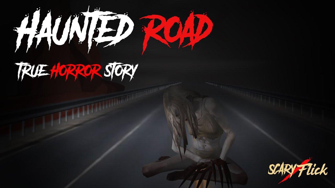 The Haunted Road I True Scary Animated Horror Story In Hindi I Scary Flick E69