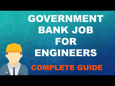 Government Bank Job for Engineers 2016 - A Complete Guide to Success