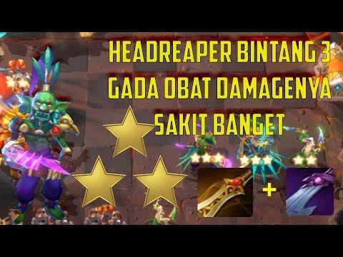 HEADREAPER BINTANG 3  DAMAGENYA SAKIT BANGET CYBORG ASSASIN COMBO  - CHESS RUSH INDONESIA #32