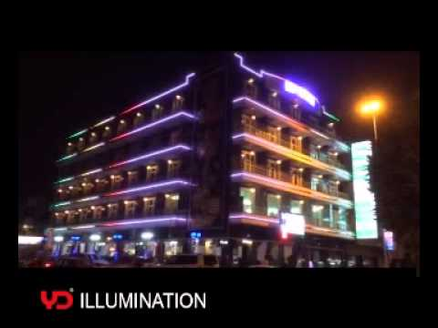 Iraq Life Palace Hotel Outdoor Building Facade LED Lighting Decoration