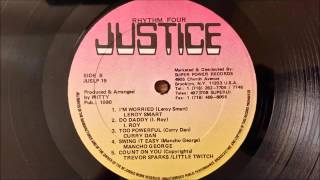 Gambar cover Curry Dan - Too Powerful - Justice LP/Various Artist 1990