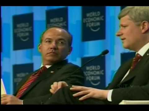 Stephen Harper humiliated in Davos