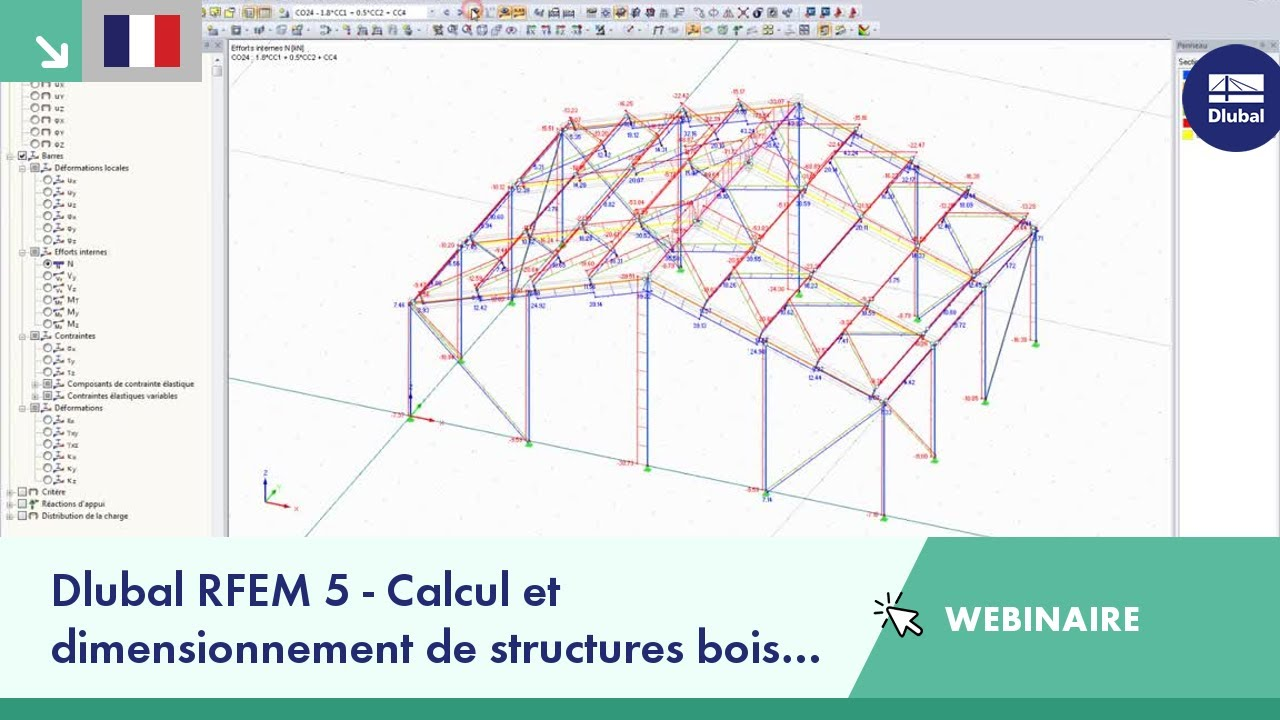 dlubal rfem 5 calcul et dimensionnement de structures bois selon eurocode 5 avec rf timber pro. Black Bedroom Furniture Sets. Home Design Ideas