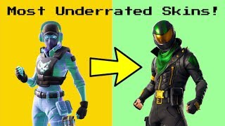 Top 10 des SKINS les plus UNDERRATED à Fortnite!
