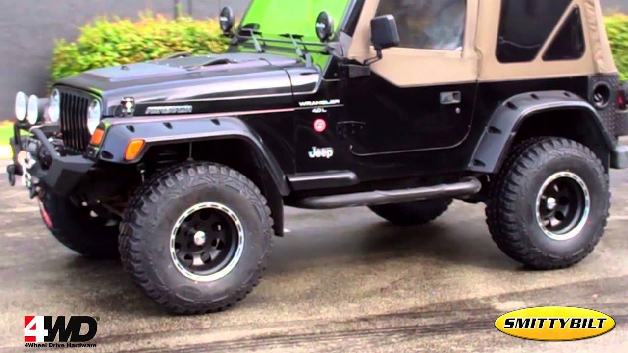 Black Rims For Jeep Wrangler >> JEEP TJ WRANGLER 1997 BUILD BY 4WD - YouTube