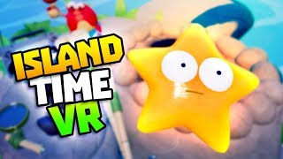 GOLD STARFISH & SURVIVING OVER 20 MINUTES - Island Time VR Gameplay - VR HTC Vive Gameplay