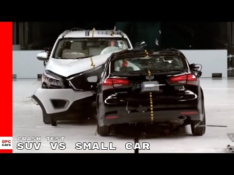 SUV vs Small Car Crash Test