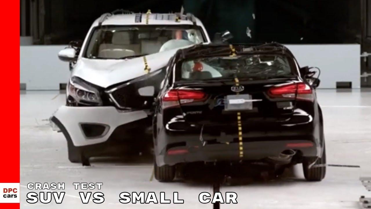 suv  small car crash test youtube