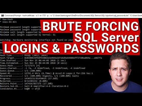 Brute Forcing SQL Server Logins And Passwords