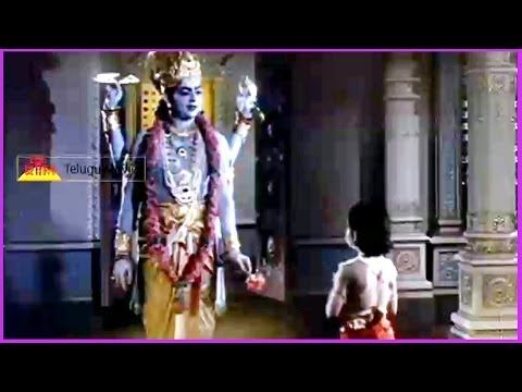 Prahlada Prays Lord Vishnu (Climax Scene) - In Bhaktha Prahlada Telugu Movie
