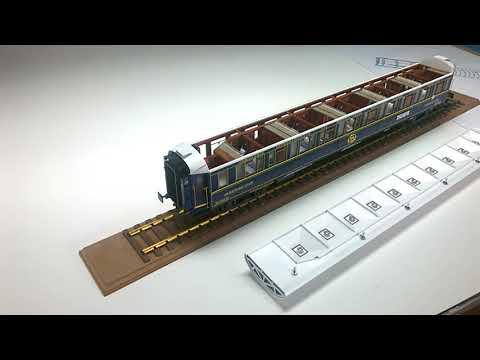 maquette voiture lit CIWL / Orient Express: