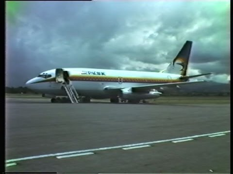 Air Pacific B737 Takeoff Henderson Field, Honiara, Solomon I